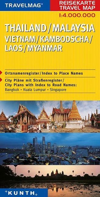 KUNTH Reisekarte Thailand / Malaysia / Vietnam ...