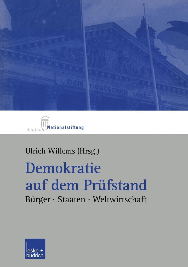 Demokratie auf dem Prüfstand als Buch von Ulrich Willems