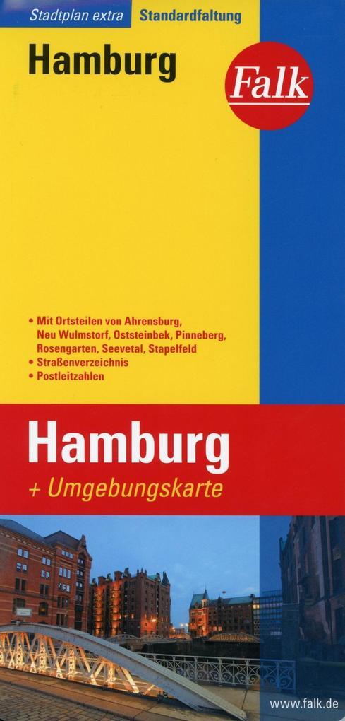 Falk Stadtplan Extra Standardfaltung Hamburg 1:22 500-1:39 000 als Buch von