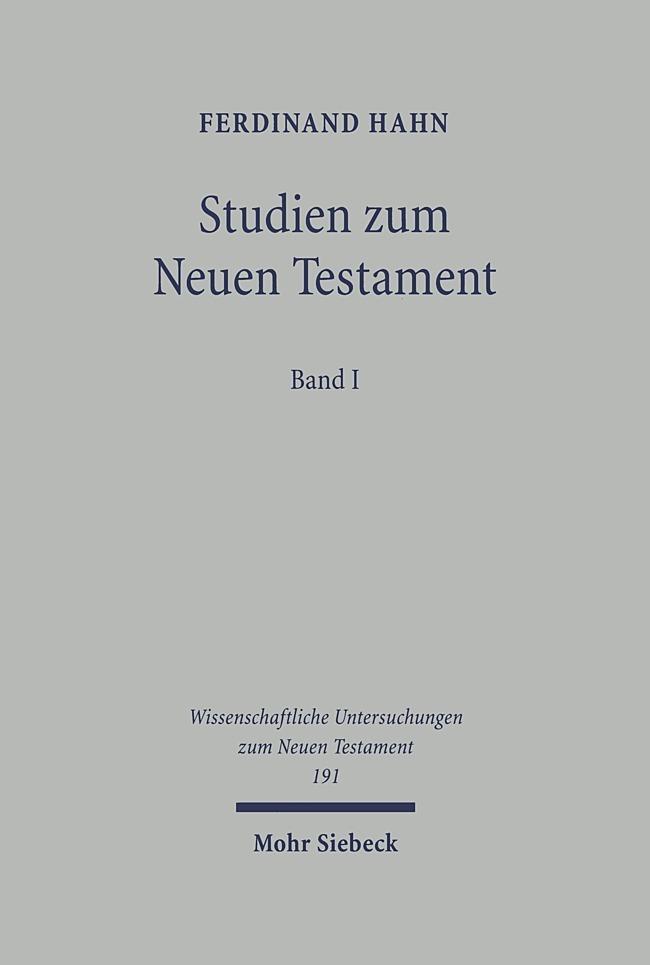 Studien zum Neuen Testament 1 als Buch von Ferdinand Hahn