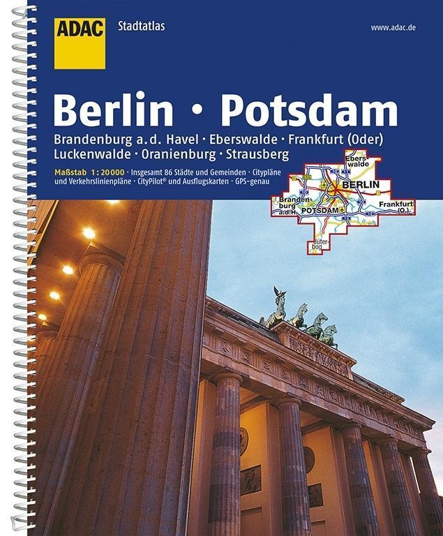 ADAC StadtAtlas Berlin / Potsdam mit Brandenbur...