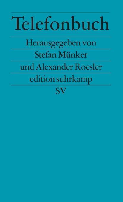 Telefonbuch als Taschenbuch von Stefan Münker, Alexander Roesler
