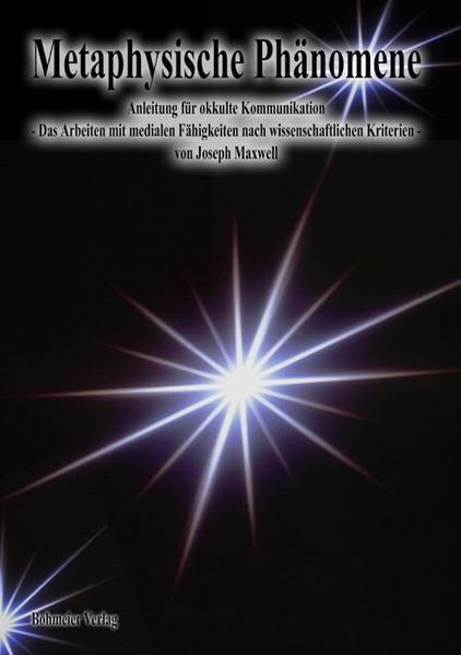 Metaphysische Phänomene als Buch von Joseph Max...