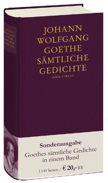 Sämtliche Gedichte in einem Band als Buch von Johann Wolfgang Goethe