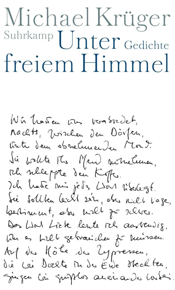 Unter freiem Himmel als Buch von Michael Krüger