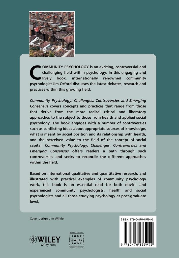 Community Psychology als Taschenbuch von Orford