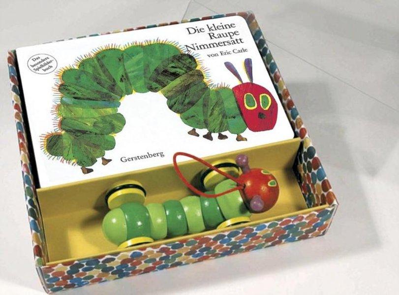 Die kleine Raupe Nimmersatt. Pappbilderbuch und Holzspielzeug als Buch von Eric Carle