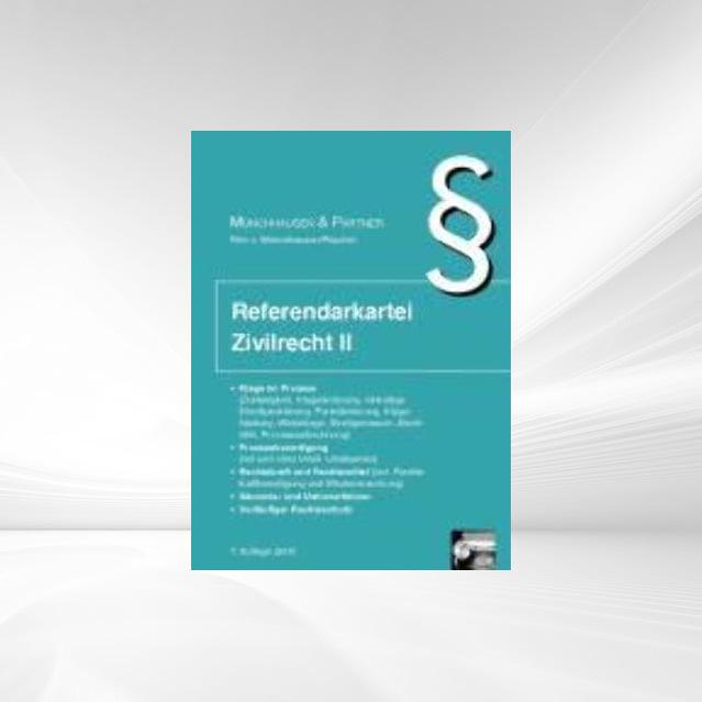 Referendarkartei Zivilrecht 2 als Buch von Marco von Münchhausen, Ingo P. Püschel