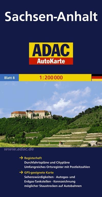 ADAC AutoKarte Deutschland 08. Sachsen-Anhalt 1...