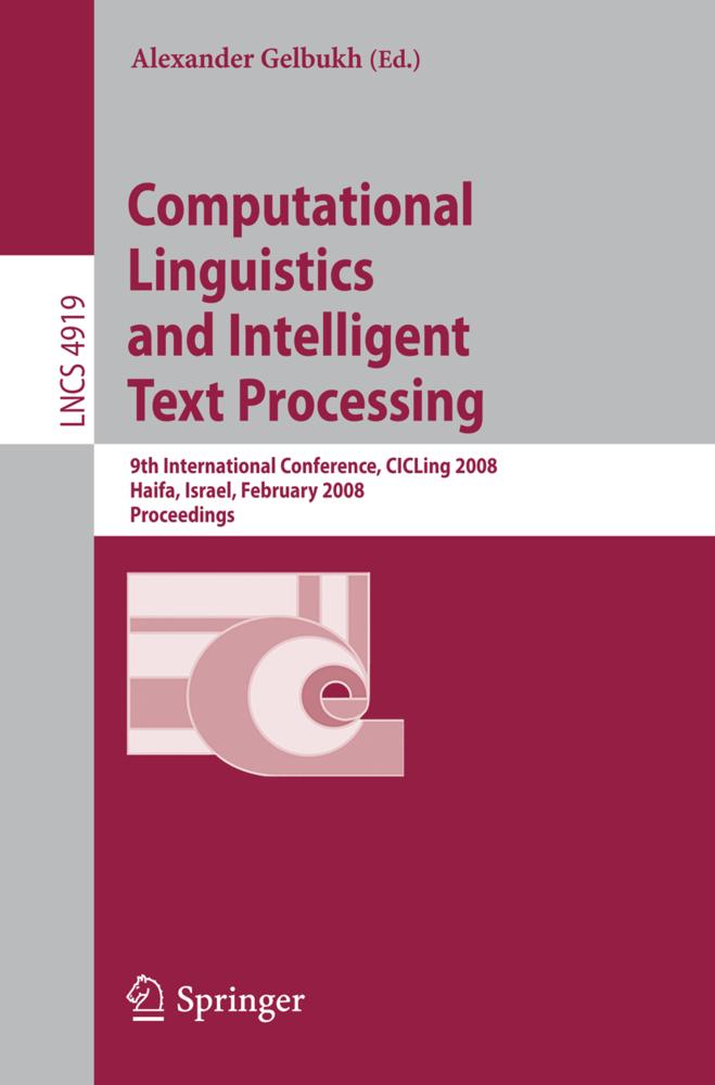 Computational Linguistics and Intelligent Text Processing als Buch von
