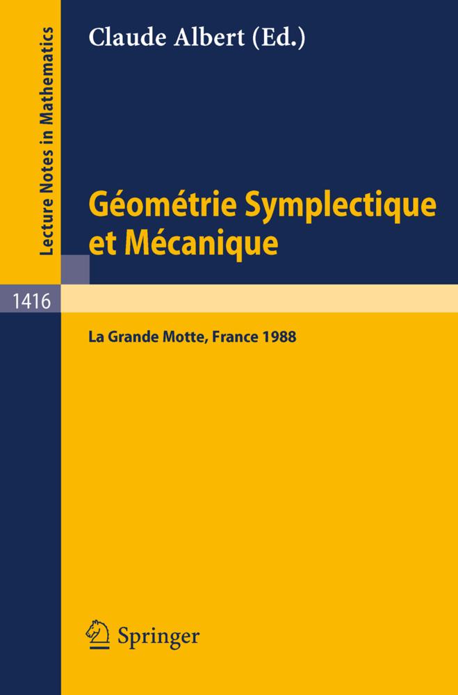 Geometrie Symplectique et Mecanique als Buch von