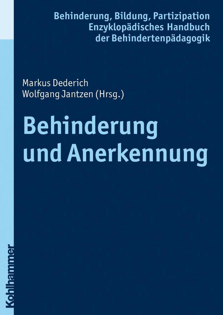 Behinderung und Anerkennung als Buch von Wolfgang Jantzen, Georg Feuser, Iris Beck, Peter Wachtel