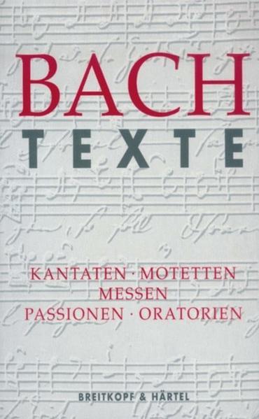 Bach Texte als Buch von