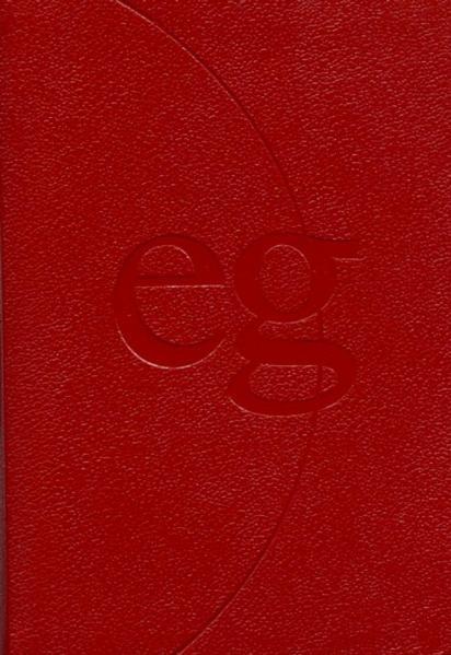 Evangelisches Gesangbuch. Ausgabe für die Landeskirchen Rheinland, Westfalen und Lippe. Taschenausgabe rot mit Goldschni
