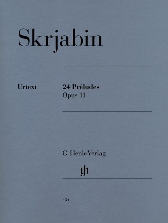24 Préludes op. 11 als Buch von Alexander Skrjabin