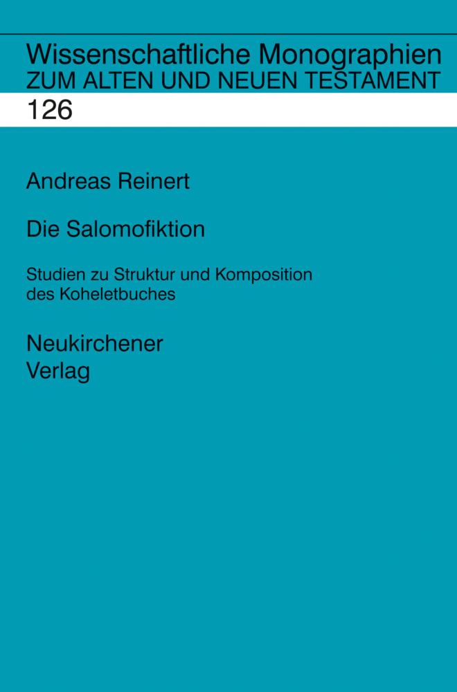 Die Salomofiktion als Buch von Andreas Reinert
