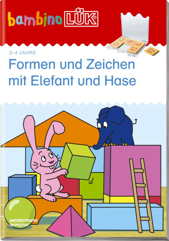 LÜK. Bambino. Formen und Zeichen mit Elefant und Hase: Basales Training als Buch von