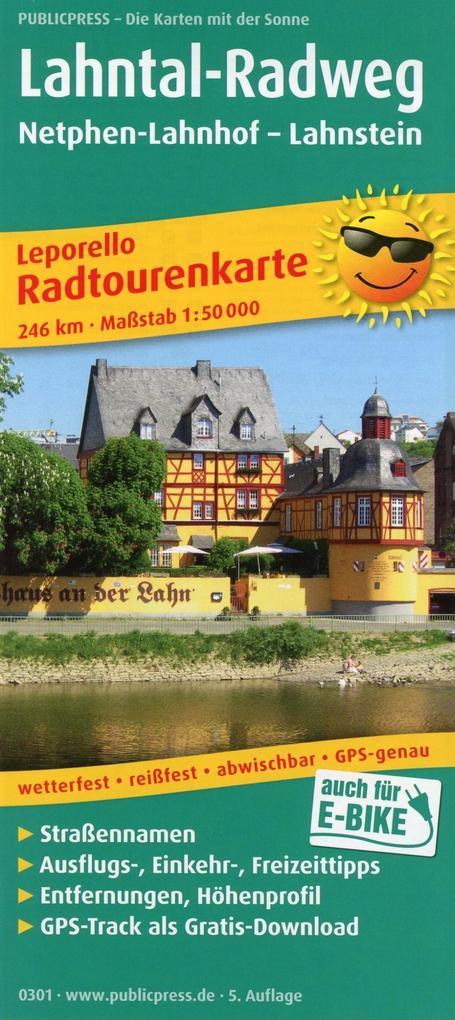 Radtourenkarte Lahntal-Radweg, Netphen-Lahnhof ...