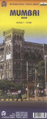 Mumbai (Bombay) City Map (INDIA) 1 : 12 000 als...