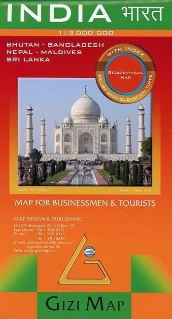 India Geographical Map 1 : 3 000 000 als Buch von