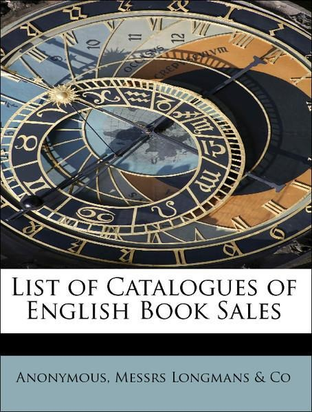 List of Catalogues of English Book Sales als Ta...