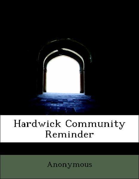 Hardwick Community Reminder als Taschenbuch von...