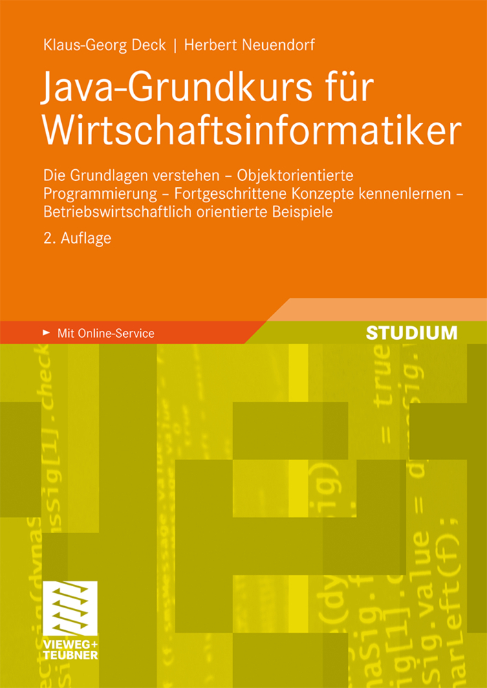 Java-Grundkurs für Wirtschaftsinformatiker als Buch von Klaus-Georg Deck, Herbert Neuendorf