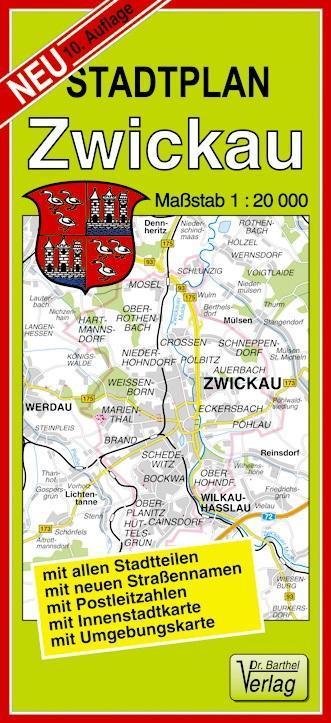 Stadtplan Zwickau und Werdau 1 : 20 000 als Buc...