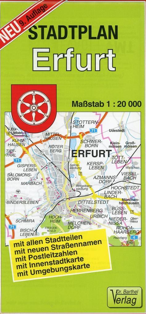 Stadtplan Erfurt 1 : 20 000 als Buch von