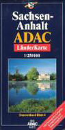 ADAC LänderKarte Sachsen-Anhalt plano 1 : 250 000 als Buch