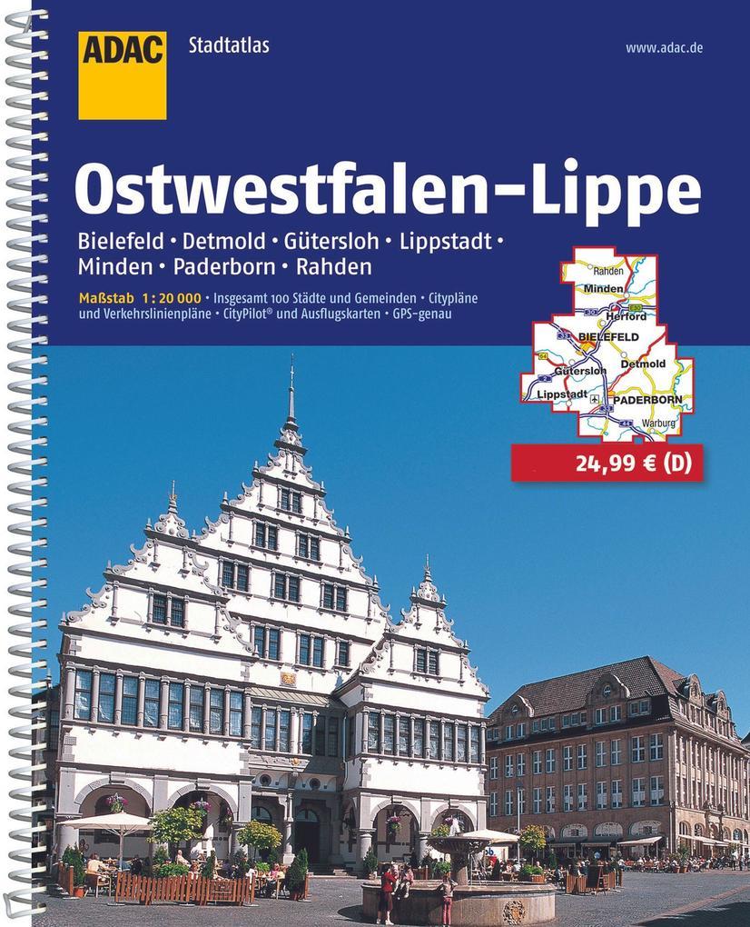 ADAC Stadtatlas Ostwestfalen-Lippe mit Bielefeld, Detmold, Gütersloh, Lippstadt 1 : 20 000 als Buch