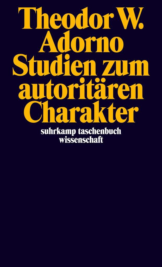 Studien zum autoritären Charakter als Taschenbuch
