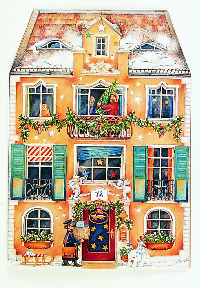 Im Weihnachtshaus als Kalender