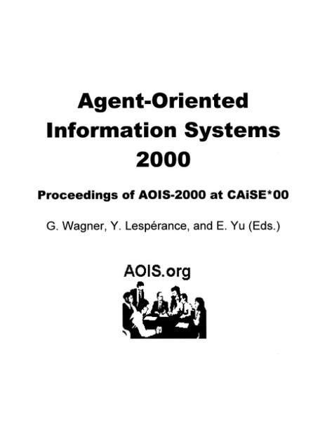 Agent-Oriented Information Systems 2000 als Buch