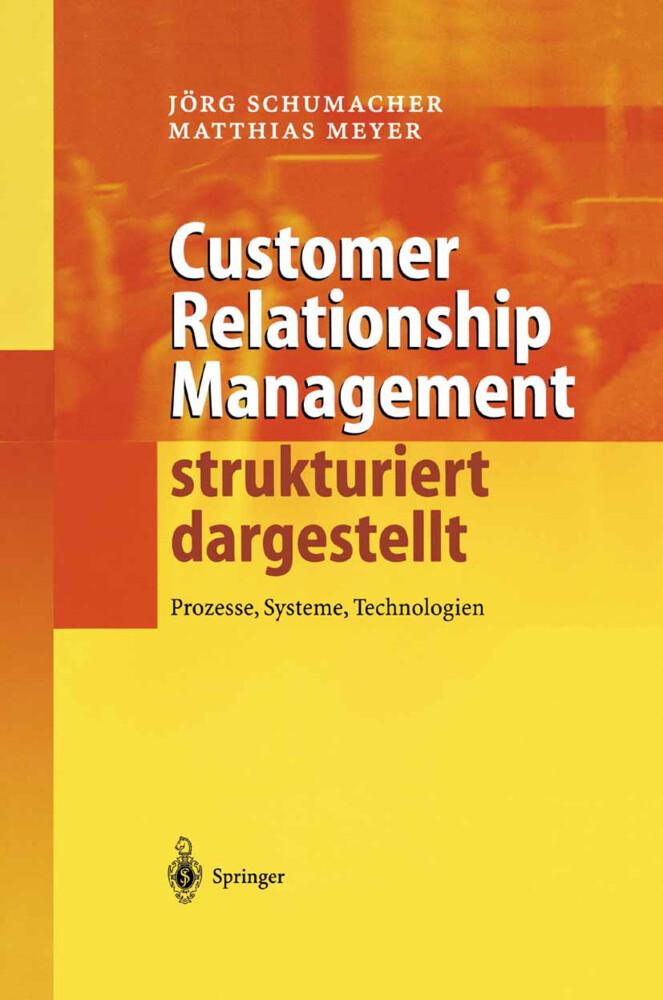 Customer Relationship Management strukturiert dargestellt als Buch
