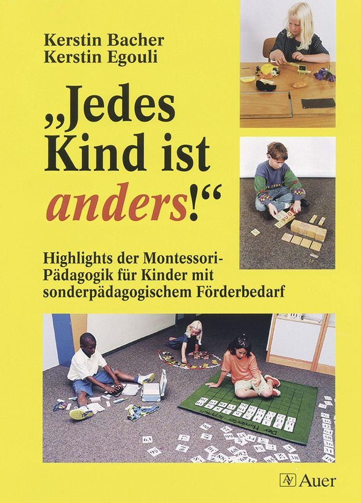 ' Jedes Kind ist anders!' als Buch