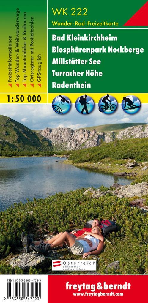 Bad Kleinkirchheim, Nationalpark Nockberge, Millstätter See, Turracher Höhe, Radenthein 1 : 50 000. WK 222 als Buch