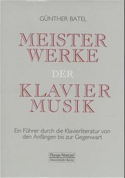 Meisterwerke der Klaviermusik als Buch