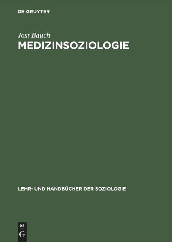 Medizinsoziologie als Buch