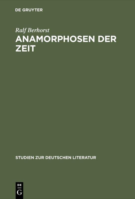 Anamorphosen der Zeit als Buch