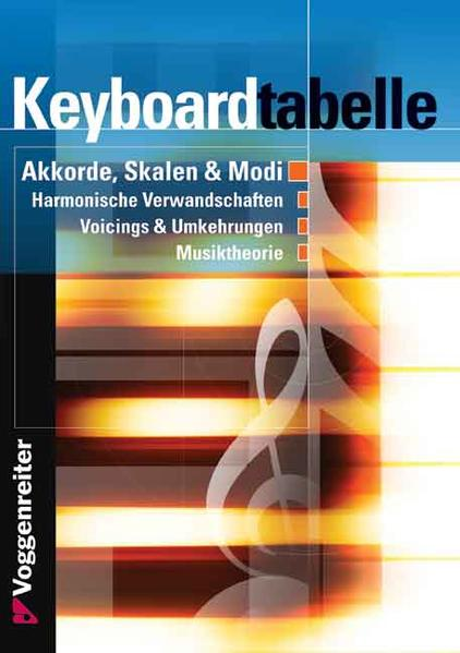 Keyboard-Tabelle als Buch