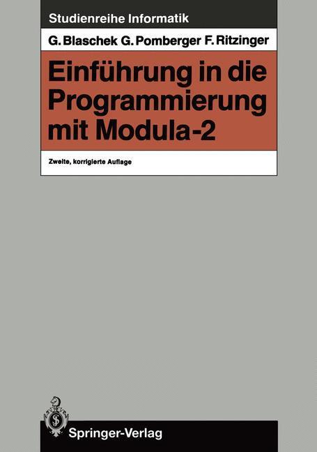 Einführung in die Programmierung mit Modula-2 als Buch