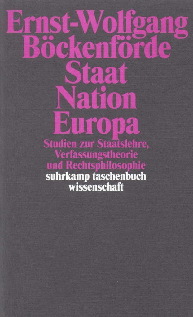 Staat, Nation, Europa als Taschenbuch