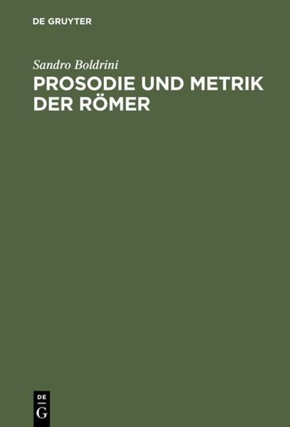 Prosodie und Metrik der Römer als Buch