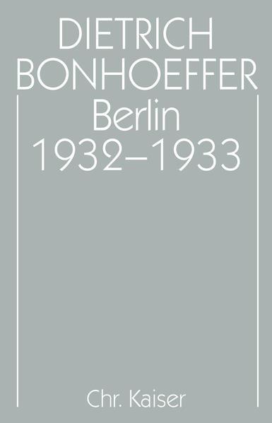 Berlin 1932-1933 als Buch