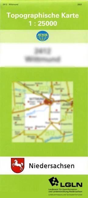 Brake (Unterweser) 1 : 25 000 als Buch