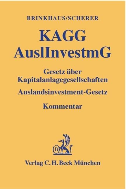 Gesetz über Kapitalanlagegesellschaften ( KAGG), Auslandsinvestmentgesetz ( AuslInvestmG) als Buch