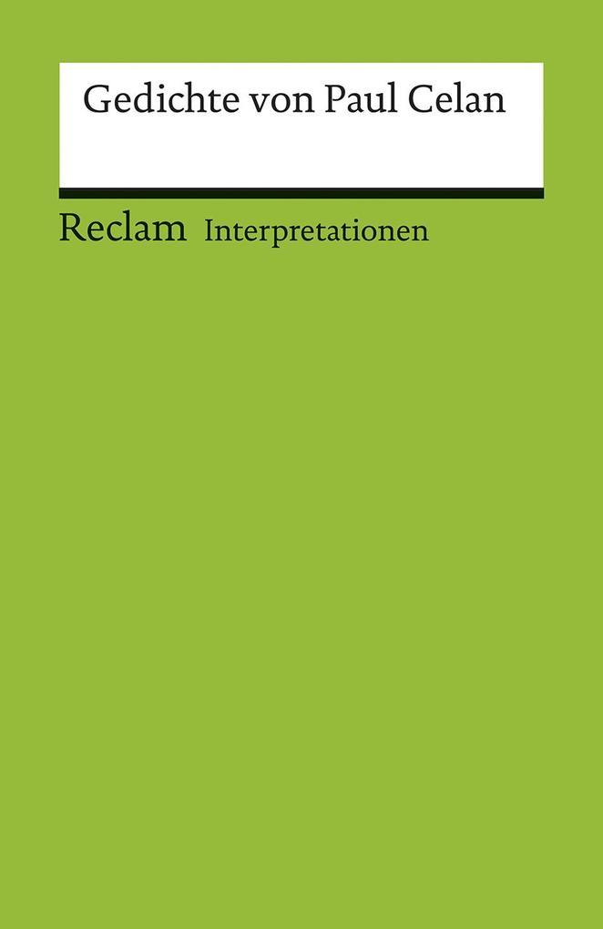 Interpretationen. Gedichte von Paul Celan als Taschenbuch