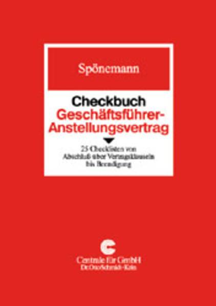 Checkbuch Geschäftsführer-Anstellungsvertrag als Buch