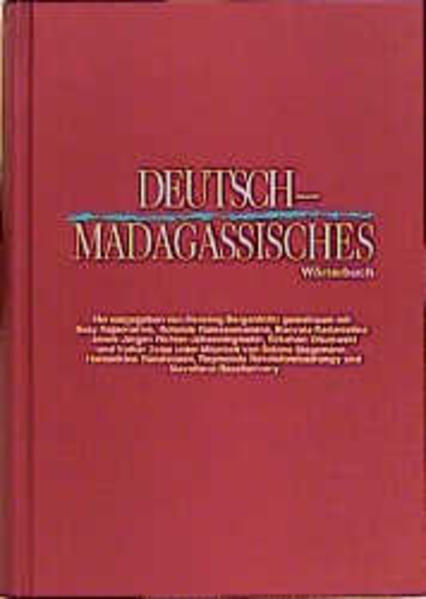 Deutsch - Madagassisches Wörterbuch als Buch